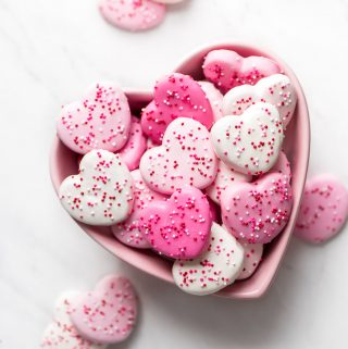 Pink & White Heart Circus Cookies