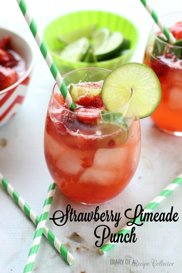 Strawberry Limeade Punch | DRINK