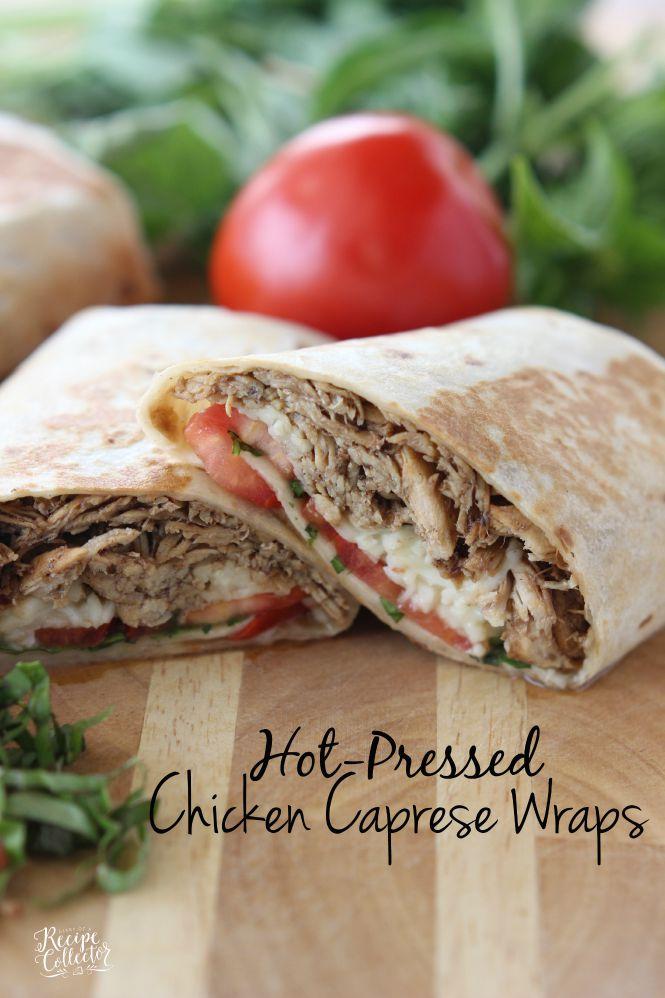 Hot-Pressed Chicken Caprese Wraps | WEDNESDAY