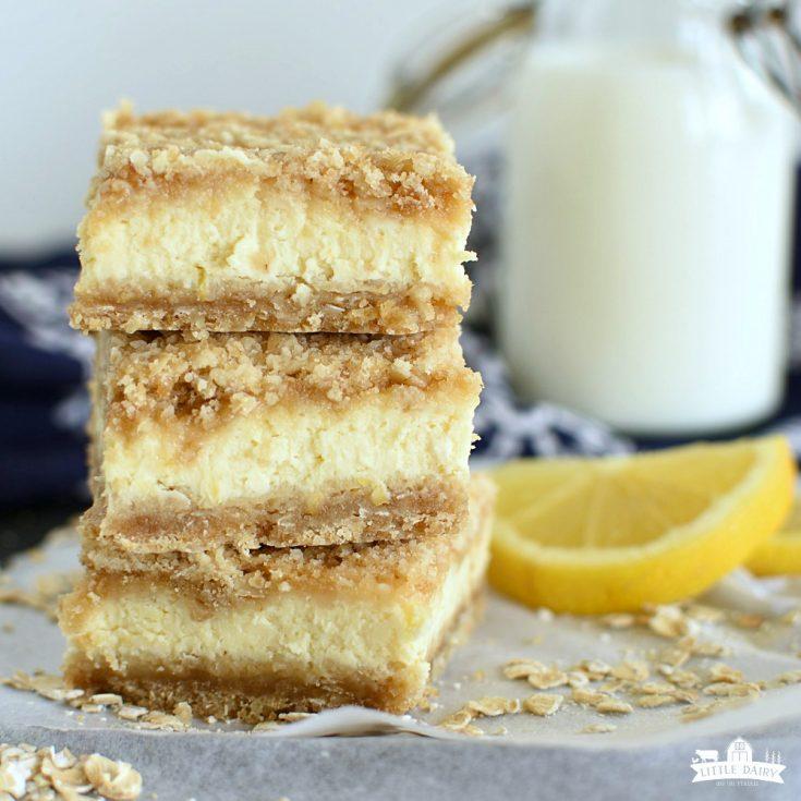 Lemon Cheesecake Crumb Bars | DESSERT