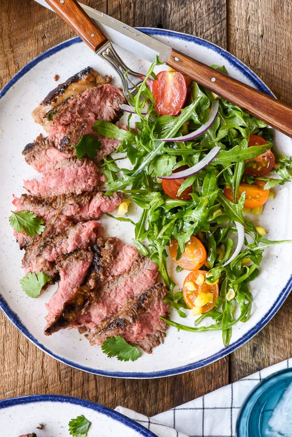 Cilantro Lime Marinated Skirt Steak with Simple Summer Salad | TUESDAY