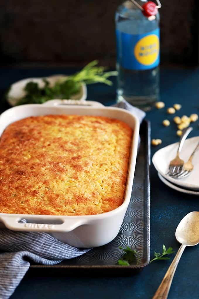 Southwest Green Chile Corn Casserole - Melanie Makes