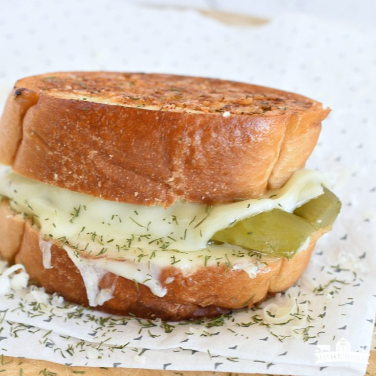 Dill Pickle Grilled Cheese Sandwich | LUNCH