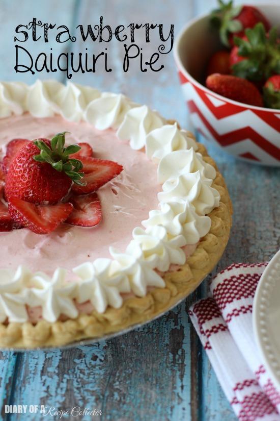 Strawberry Daiquiri Pie