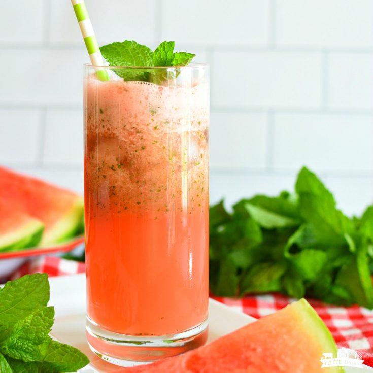 Slushy Watermelon Mint Lemonade | Drink