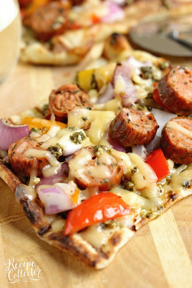 Grilled Sausage and Pepper Pizza | Tuesday