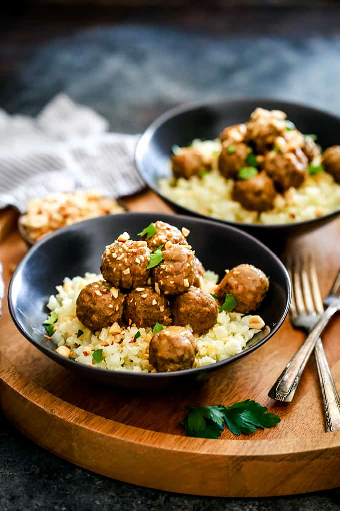 Slow Cooker Thai Chili Peanut Meatballs | WEDNESDAY