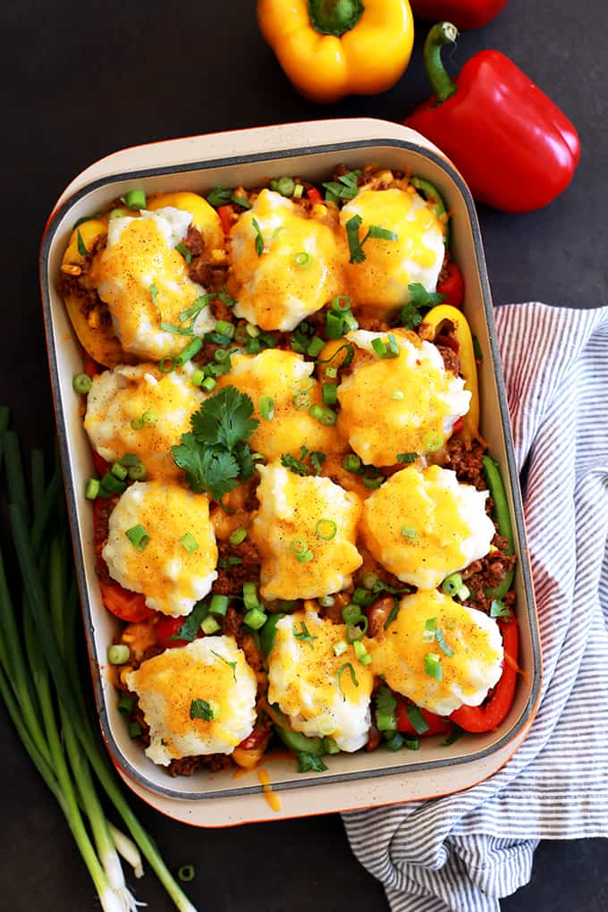 TUESDAY | Southwest Skillet Stuffed Peppers