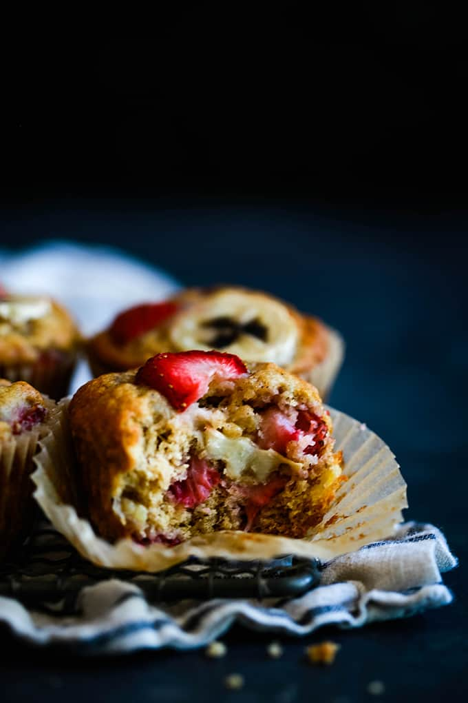 Strawberry Banana Muffins - Melanie Makes