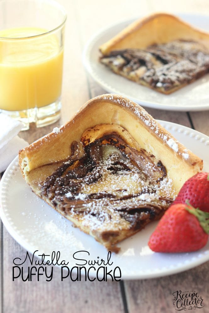 BREAKFAST | Nutella Swirl Puffy Pancake