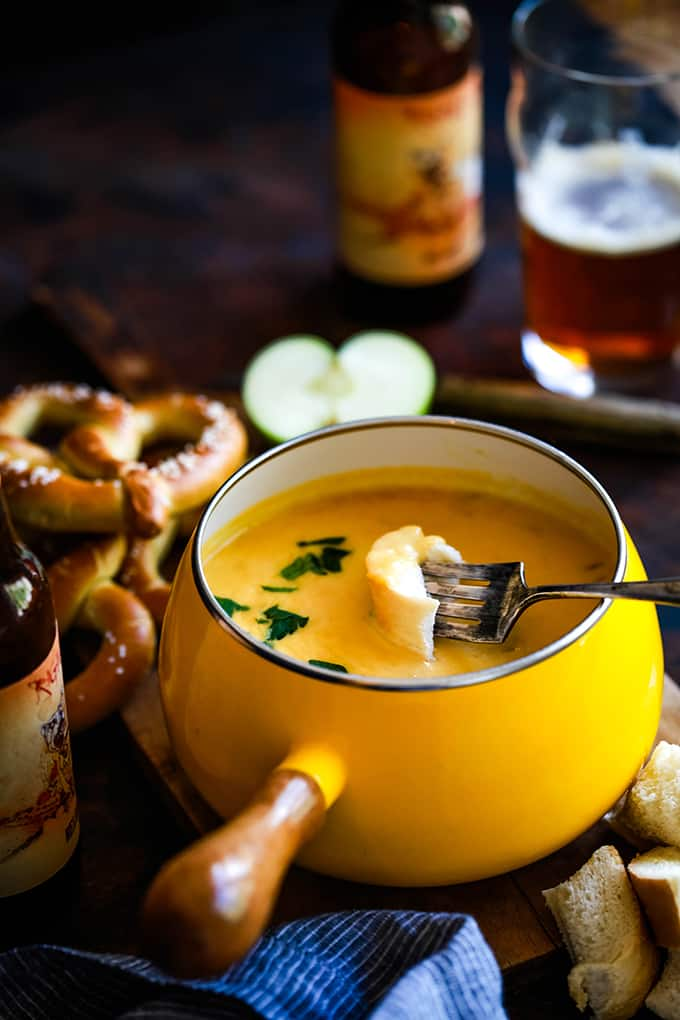 Beer Cheese Fondue - Melanie Makes