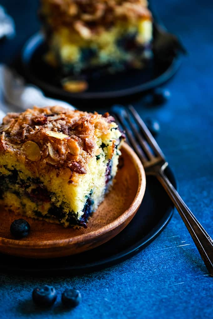 BREAKFAST | Blueberry Lemon Almond Coffee Cake