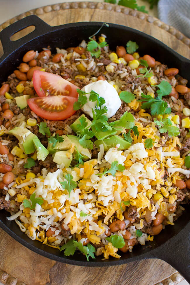 TUESDAY | Easy Beef Burrito Skillet | Little Dairy On the Prairie