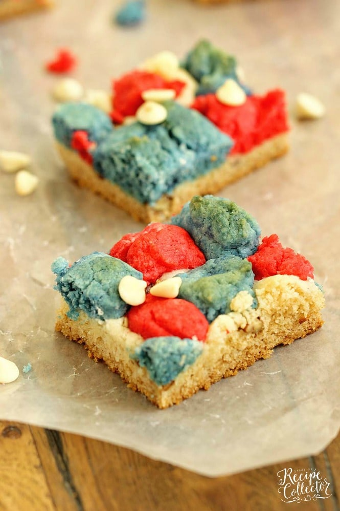 DESSERT | Red, White, and Blue Cookie Bars