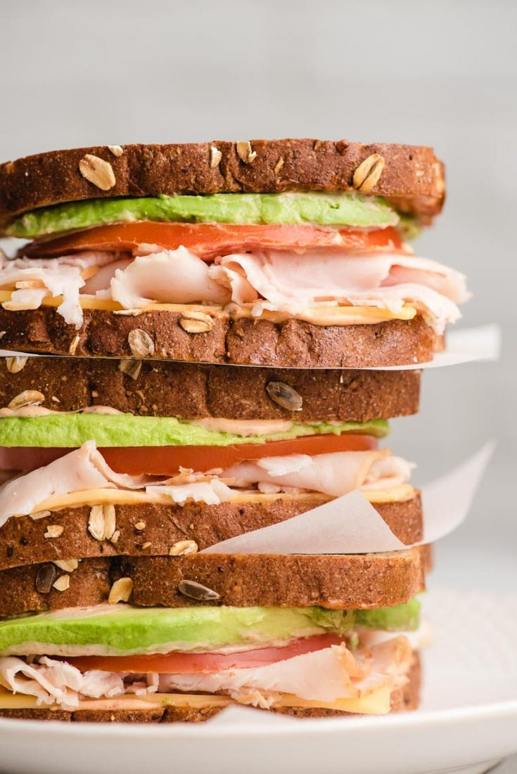 LUNCH | Turkey Avocado Sandwich with Chipotle Mayo
