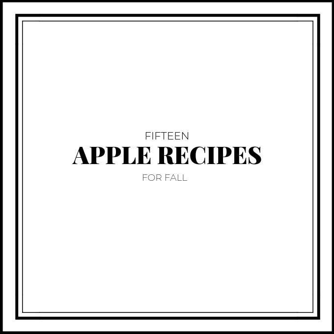 Fifteen Apple Recipes Graphic