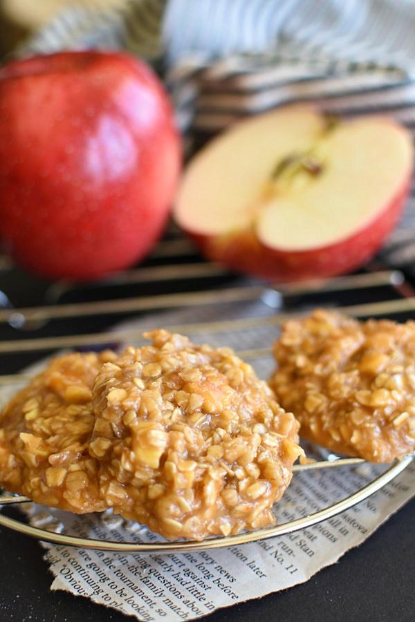 No Bake Caramel Apple Cookies