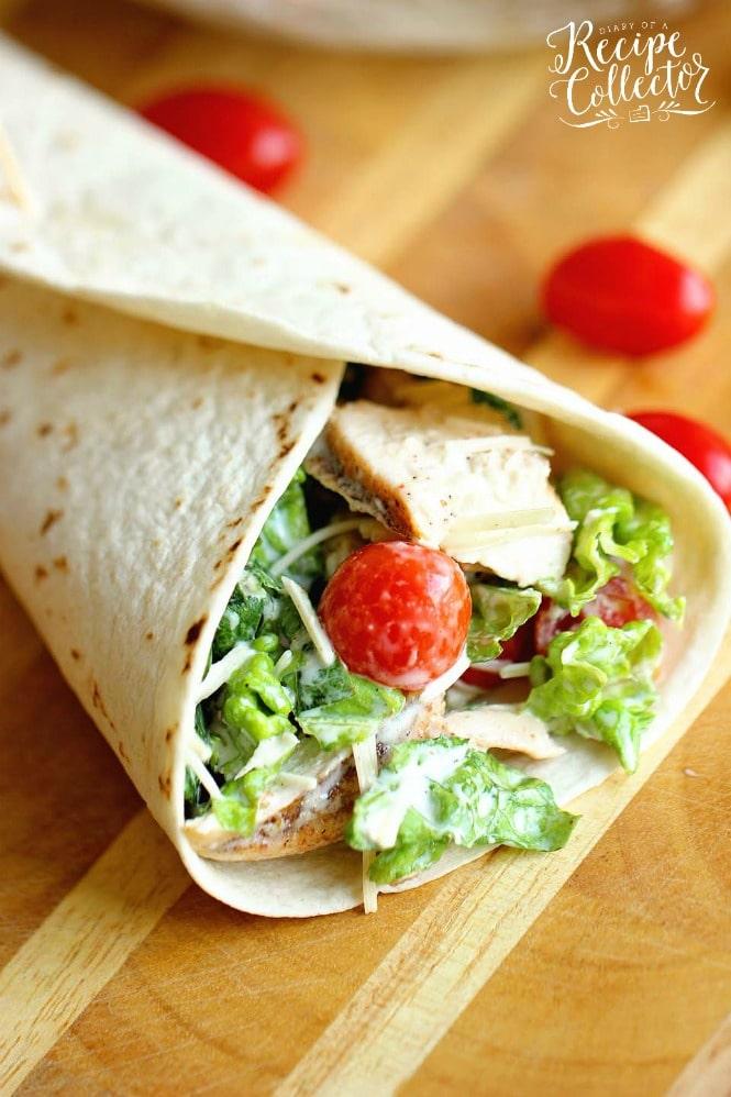 LUNCH | Chicken Caesar Wrap