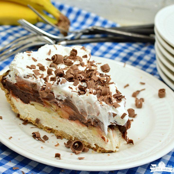 DESSERT | No Bake Chocolate Banana Cream Pie
