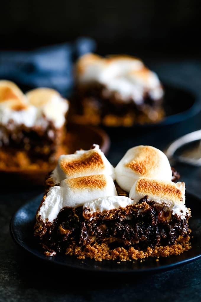 DESSERT | Dulce de Leche Swirl S'mores Brownies