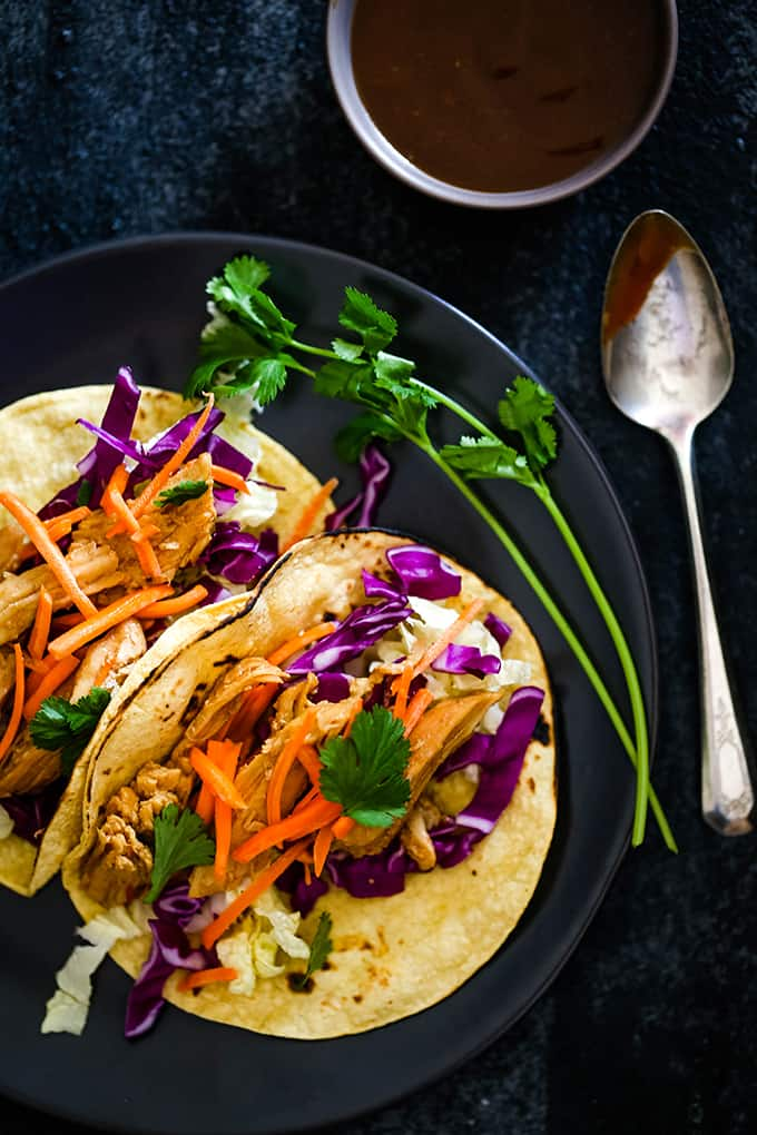 FRIDAY | Slow Cooker Hoisin Chili Chicken Tacos