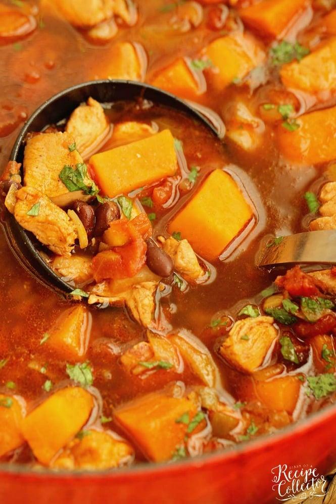 TUESDAY | Mexican Chicken, Black Bean, & Sweet Potato Soup