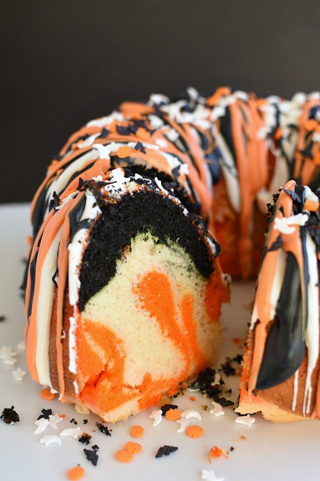 Easy Halloween Bundt Cake