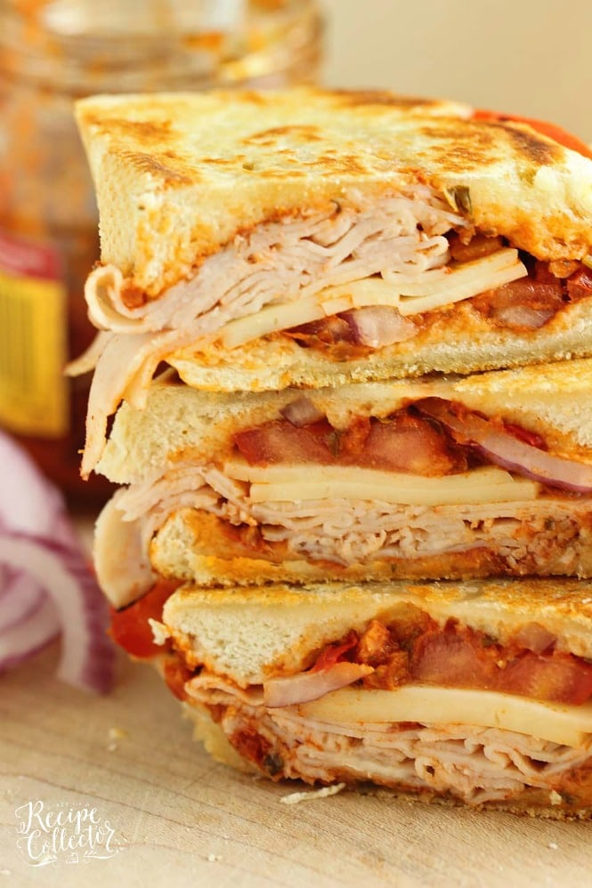 Sun-Dried Tomato Pesto Turkey Panini