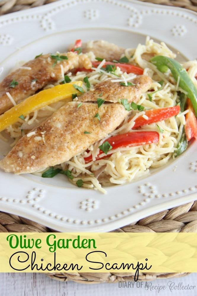 TUESDAY   Copycat Olive Garden Chicken Scampi