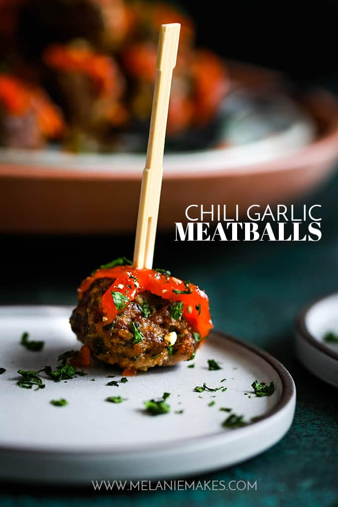 Chili Garlic Meatballs
