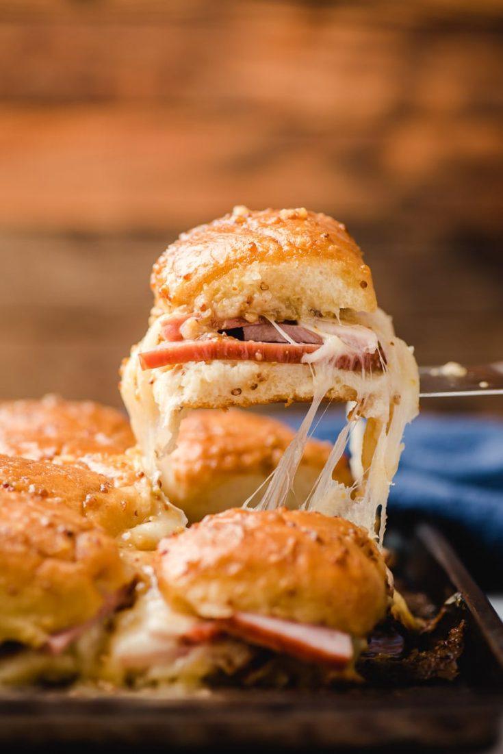 Hawaiian Roll Ham and Swiss Sliders
