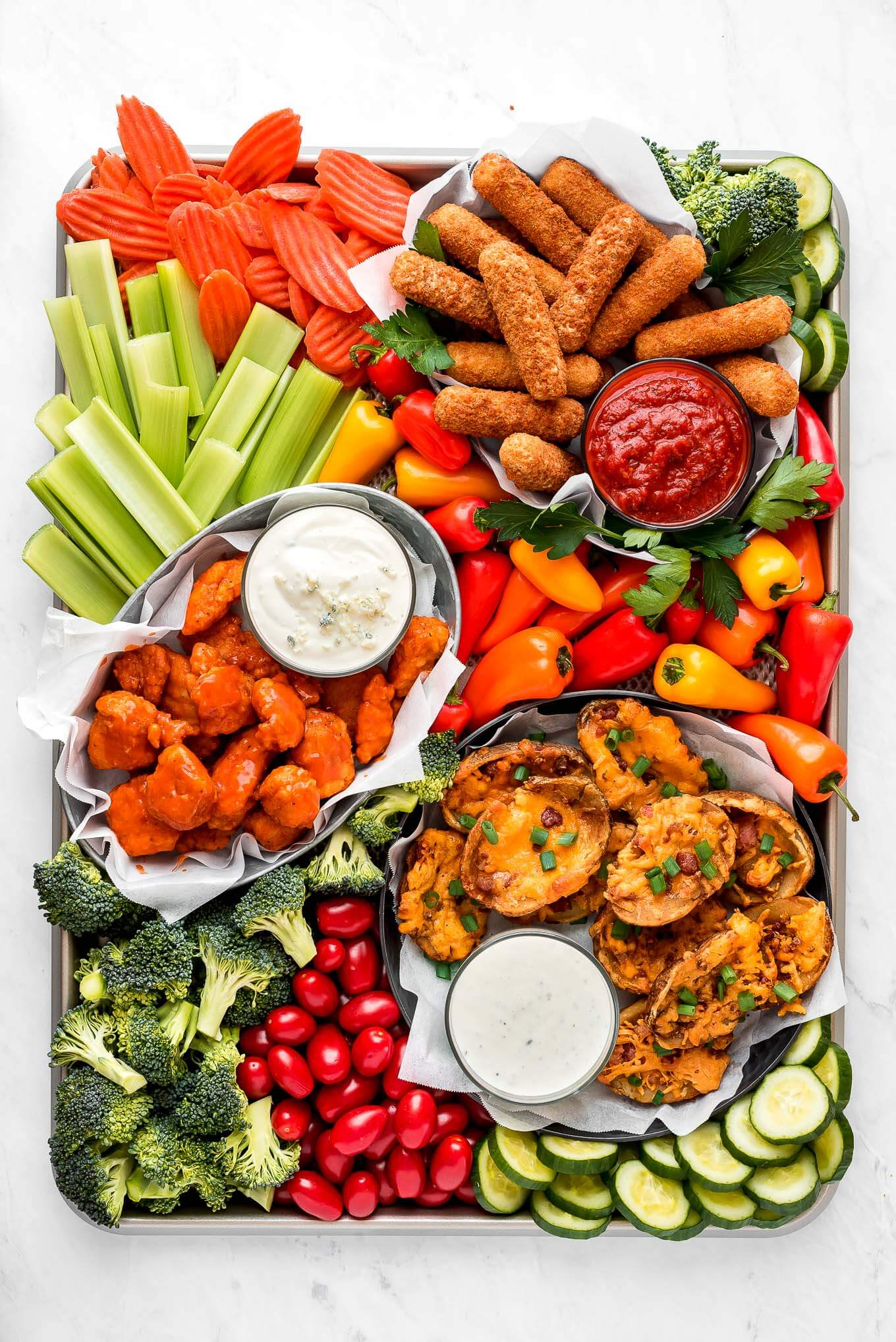 A beautiful snack board for Game Day!