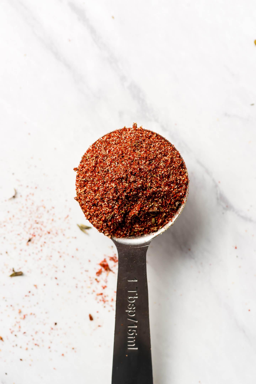 A tablespoon of Cajun Seasoning.