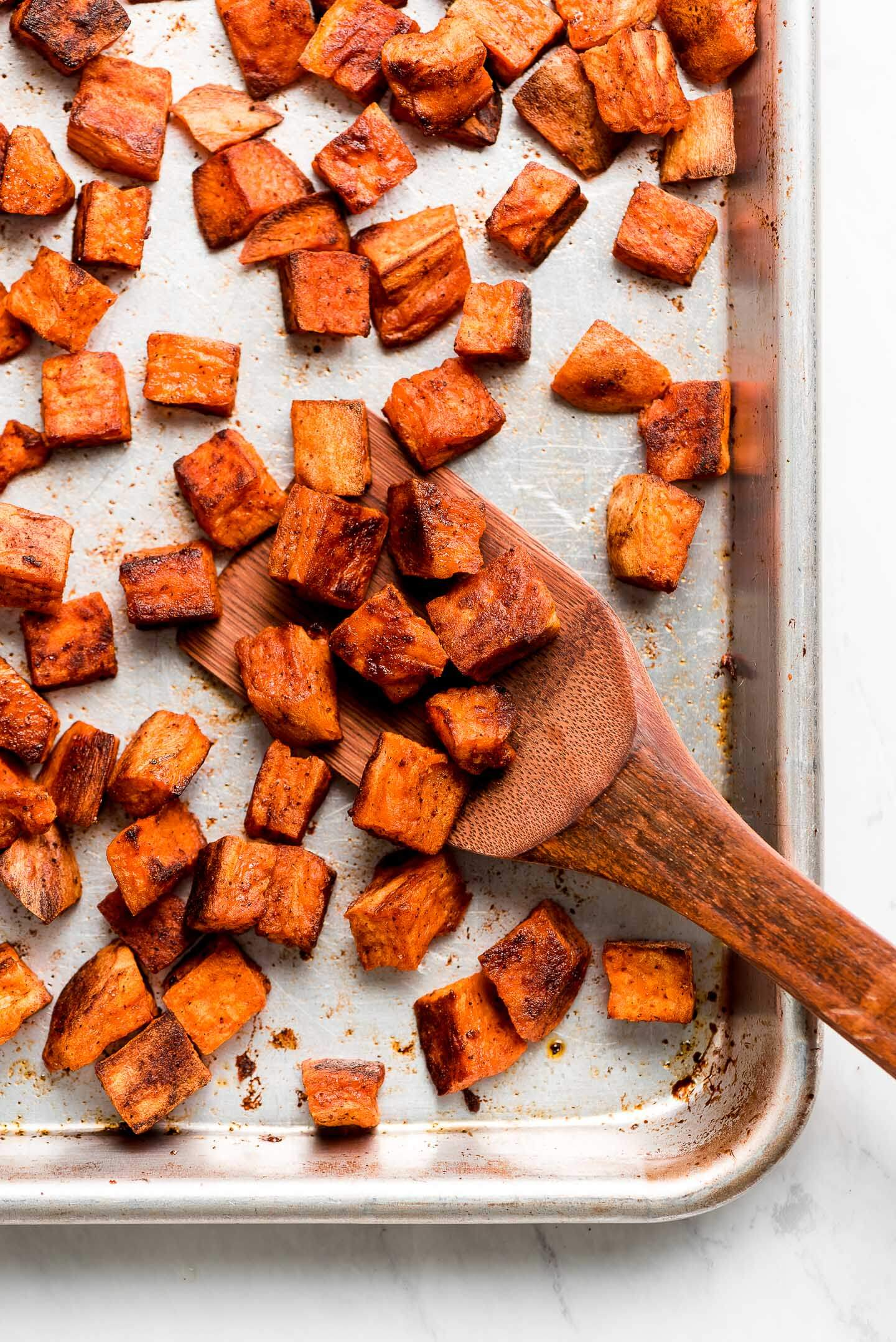 Roasted Sweet Potatoes Garnish Glaze